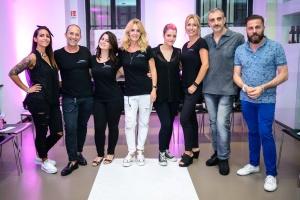 Il team di parrucchieri L Oreal Monica Marchetti Antonella Readaelli e Felice Panzironi