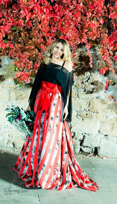 Iolanda Pomposelli in abito Valerio Luna dell'Atelier Batinelli